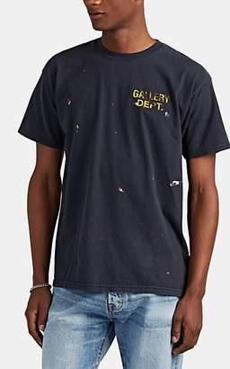 Gallery Department Men's Paint-Splattered Logo Washed Cotton Jersey T-Shirt - Black