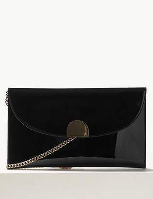 693d47e125d0 M&S CollectionMarks and Spencer Fold Over Chain Clutch Bag