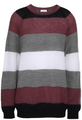Brunello Cucinelli Metallic Striped Knitted Sweater