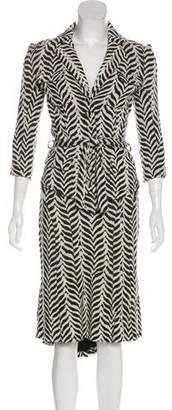 Diane von Furstenberg Animal Print Knit Skirt Suit