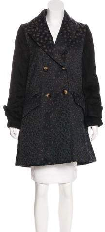 Marc by Marc Jacobs Leopard Pattern Double-Breasted Coat w/ Tags