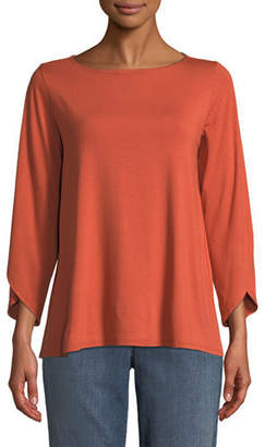 Eileen Fisher Lightweight Viscose Jersey Top
