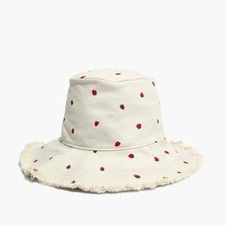 Madewell Canvas Bucket Hat in Fresh Strawberries
