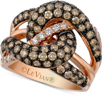 LeVian Le Vian Chocolatier® Gladiator KnotsTM Diamond Knot Ring (2-1/2 ct. t.w.) in 14k Rose Gold