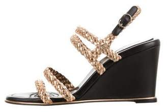Chanel 2017 Braided Wedge Sandals w/ Tags Gold 2017 Braided Wedge Sandals w/ Tags