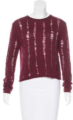 Alexander Wang Merino Wool Distressed Sweater