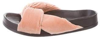 Chloé Velvet Slide Sandals