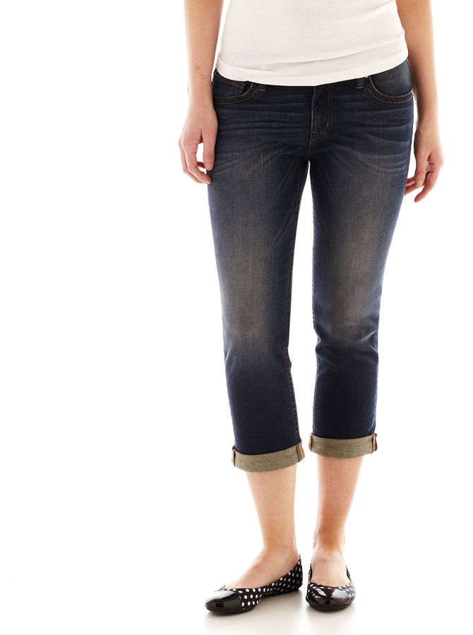 JCPenney A.N.A a.n.a Roll-Cuff Cropped Jeans - Tall
