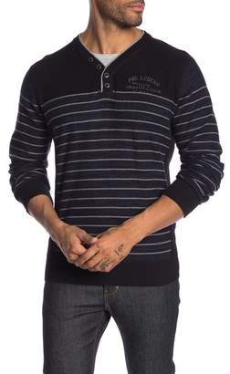 ProjekRaw Projek Raw Long Sleeve Patterned Henley