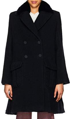 Fendi Women's Fur-Collar Wool Bouclé Coat