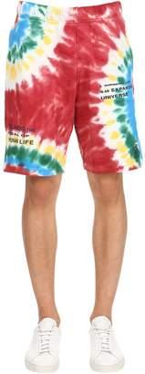 Bbc-Billionaire Boys Club Tie Dye Cotton Sweat Shorts