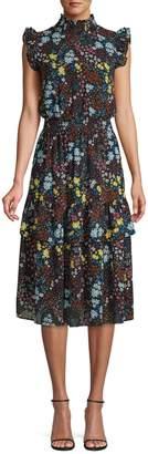 Sfw Floral Knee-Length Dress
