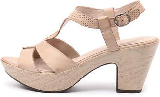 Django & Juliette Wisdom Beige Sandals Womens Shoes Casual Heeled Sandals