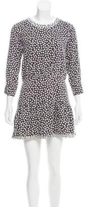 Current/Elliott Abstract Printed Cutout Dress