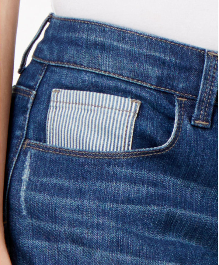 Style&Co. Style & Co Style & Co Petite Curvy Patchwork Boyfriend Jeans, Created for Macy's
