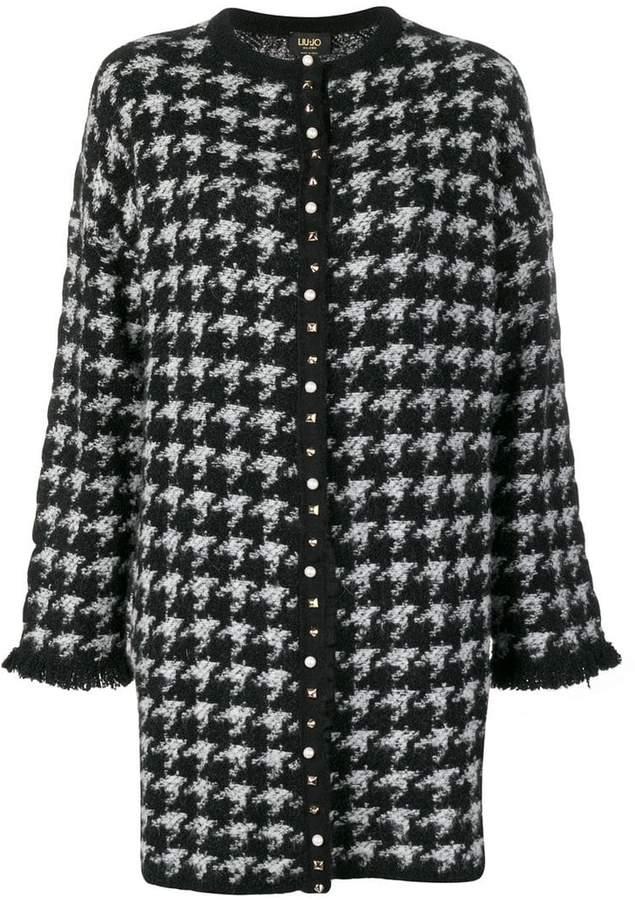 houndstooth print coat
