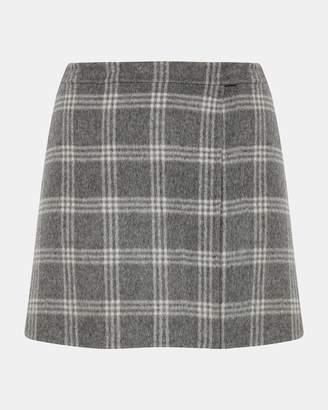 Theory Double-Faced Snap Mini Skirt