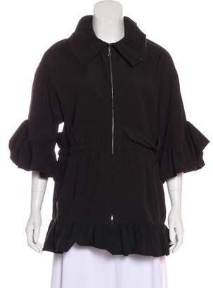 Goen.J Ruffle-Trimmed Short Sleeve Jacket