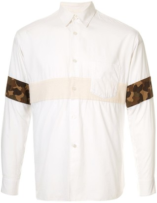Comme des Garcons Pre-Owned camouflage insert shirt