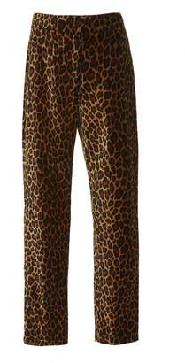 A.L.C. Harrison Leopard-Print Straight-Leg Pants