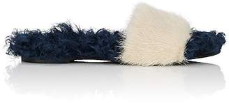 Mr & Mrs Italy Women's Mink Fur Slide Sandals