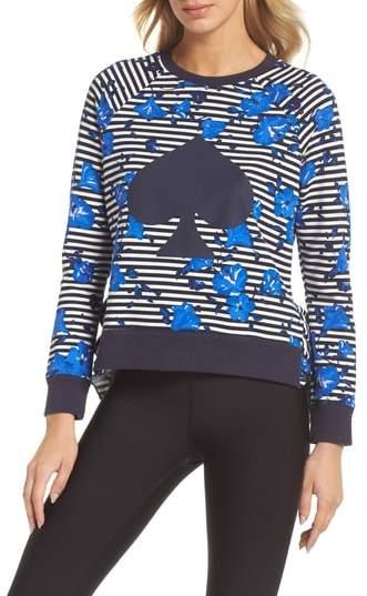 Hibiscus Stripe Sweatshirt