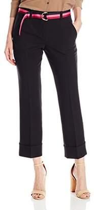Trina Turk Women's Dashing Cropped and Cuffed Luxe Drape Pant