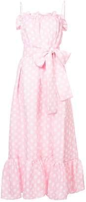 Lisa Marie Fernandez polka dot tie waist maxi dress