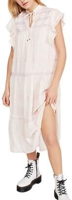 Free People Midnight Lace-Trim Midi Dress