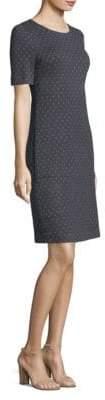 Peserico Medallion Cotton Sheath Dress