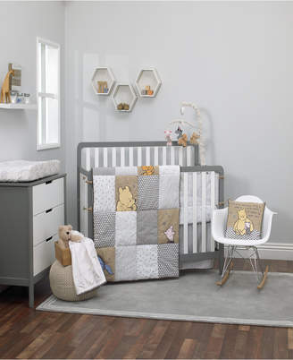 "Disney A Day With Pooh"" 3-Pc. Crib Set Bedding"