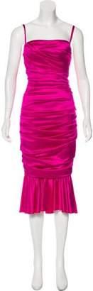 Dolce & Gabbana Ruffle-Accented Silk Dress