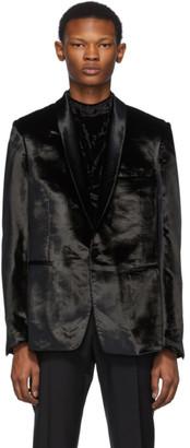 Paul Smith Black Crushed Velvet Blazer