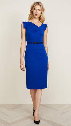 Black Halo Jackie O Belted Dress