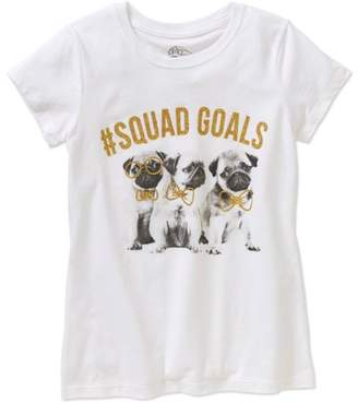 Unbranded Girls' Pug #Squad Goals Graphic T-Shirt