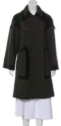 Etro Velvet-Trimmed Wool Coat