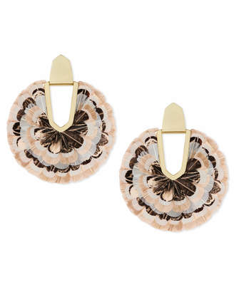 Kendra Scott Diane Feather Statement Earrings