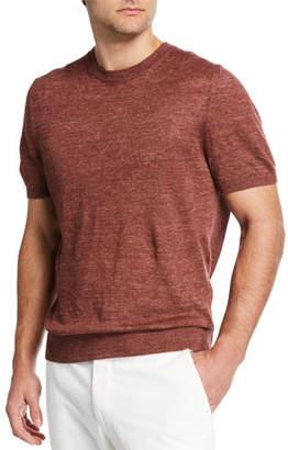 Ermenegildo Zegna Men's Linen-Cotton Crewneck T-Shirt