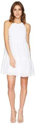 London Times Two Tier Cotton Eyelet Dress Women's Dress