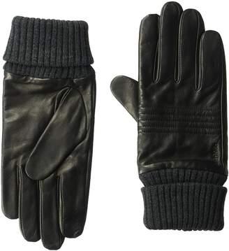 Calvin Klein Unisex Plaited Rib Knit Cuff Winter Gloves