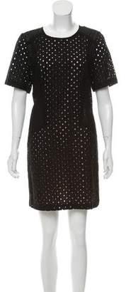 Trina Turk Embroidered Short Sleeve Dress