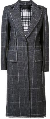 Calvin Klein contrast plaid coat $3,495 thestylecure.com
