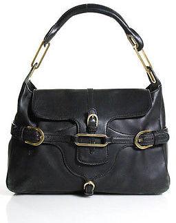 Jimmy ChooJimmy Choo Black Leather Tulita Shoulder Handbag