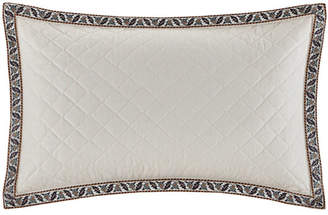 """Echo Paisley Shawl 12""""x18"""" Embroidered Quilted Cotton Oblong Decorative Pillow"""