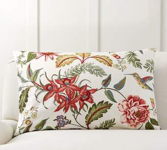 Pottery Barn Karina Floral Embroidered Pillow Cover