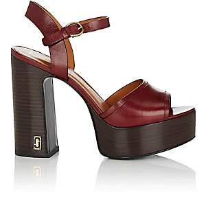 Marc Jacobs Women's Lust Status Leather Platform Sandals-Wine