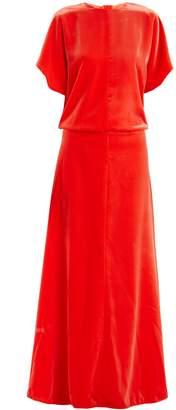 Valentino Round-neck velvet gown