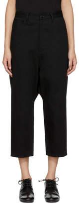 Y's Ys Black Gusset Drop Jeans