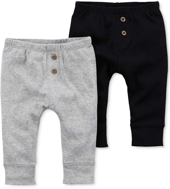2-Pk. Cotton Jogger Pants, Baby Boys