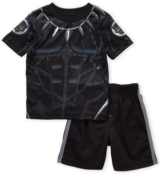 Marvel Toddler Boys) Two-Piece Black Panther Tee & Perforated Shorts Set